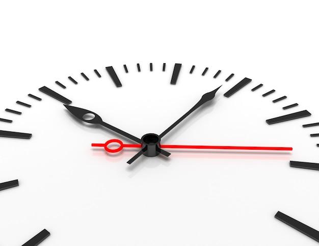 Temps concept horloge libre 3d