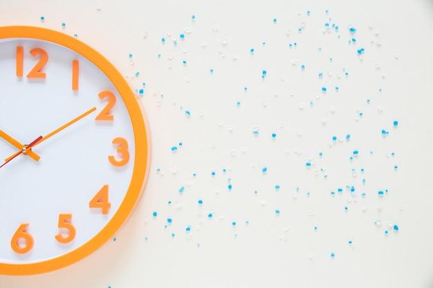 Temps d'horloge vue de dessus