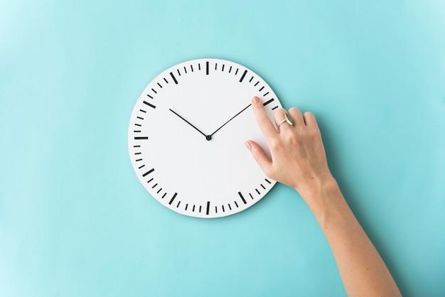 Temps ponctuel deuxième minute heure concept