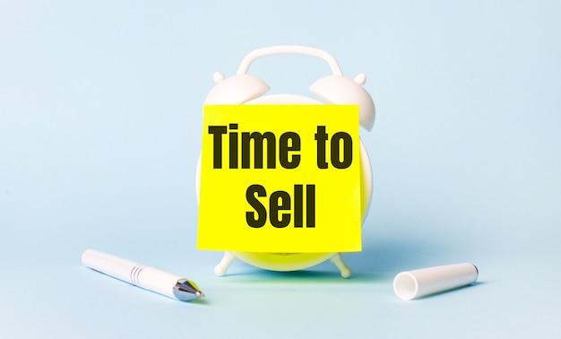 Temps de vendre