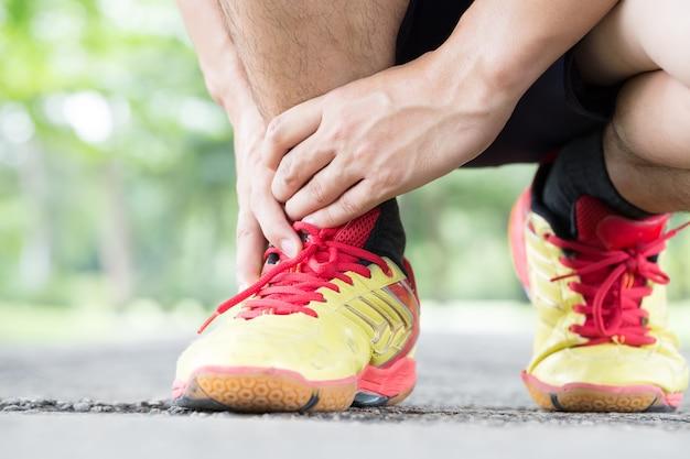 Tendinite d'archillis, blessure subie pendant l'exercice et la course