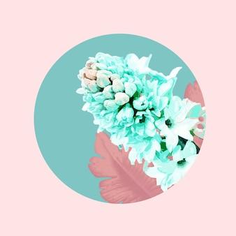 Tendre. illustration aquarelle florale de fleur fantastique dans de belles couleurs. conception géométrique et splash moderne avec fond pour l'annonce. printemps, mariage, carte de voeux de la fête des mères, de la femme.