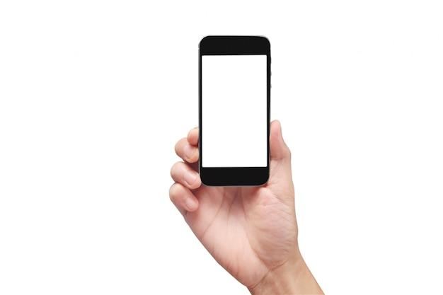 Tenir les téléphones mobiles, les smartphones et la technologie à écran tactile