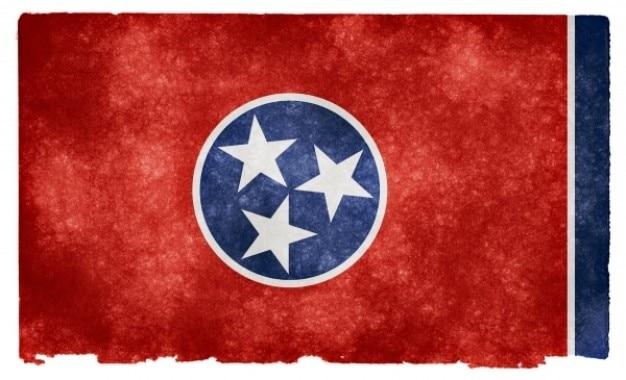 Tennessee grunge flag