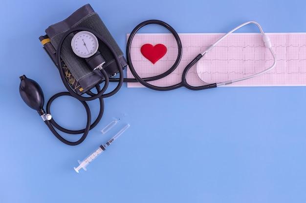 Tensiomètre ecg comprimés et seringue