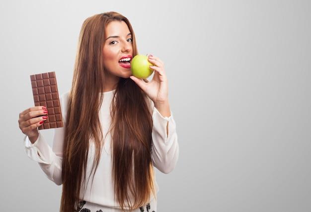Tentation nutrition savoureuse jolie personne