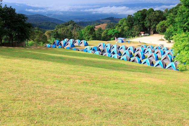 Tente dôme, camping, à, parc national