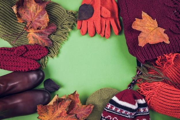 Tenue d'automne femme ensemble de vêtements, chaussures et accessoires