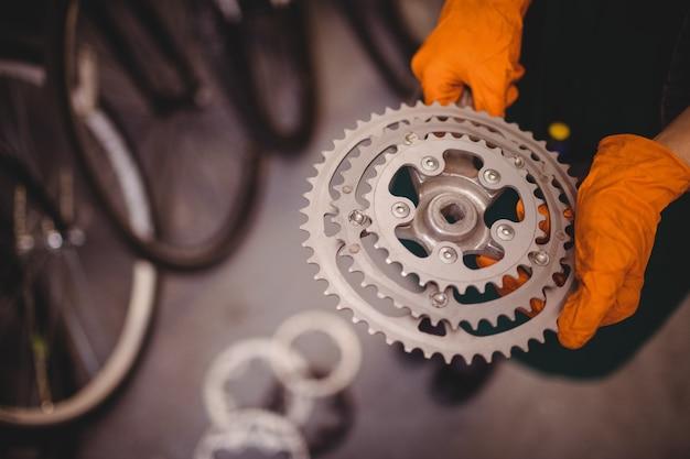 La tenue mécanique d'un engrenage de bicyclette