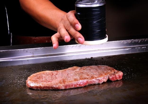 Teppanyaki au bœuf japonais matsusaka.