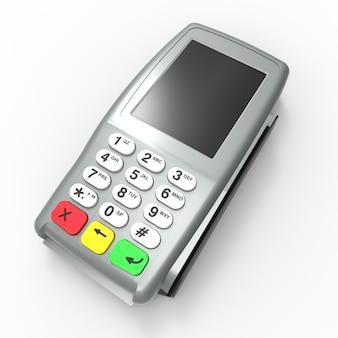 Terminal de paiement par carte. terminal de point de vente isolé