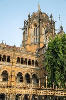 Terminus chhatrapati shivaji à mumbai, en inde.