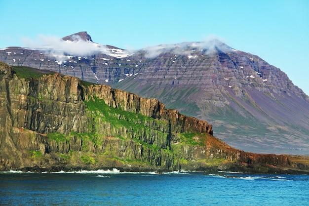 Terrain arctique accidenté de l'islande