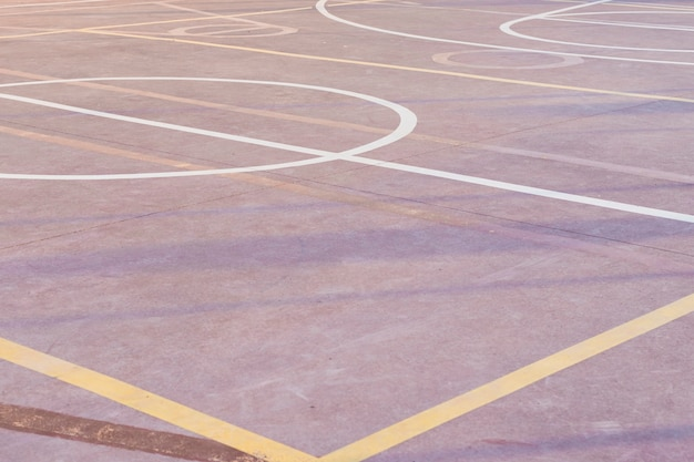 Terrain de basket extérieur