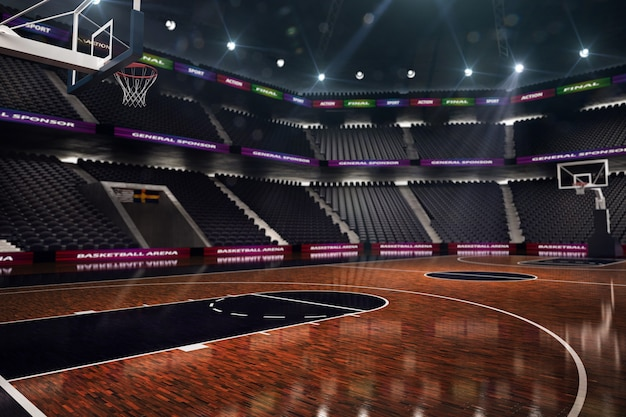 Terrain de basketball. arène de sport.