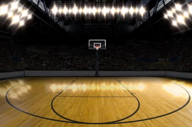 Terrain de basketball.