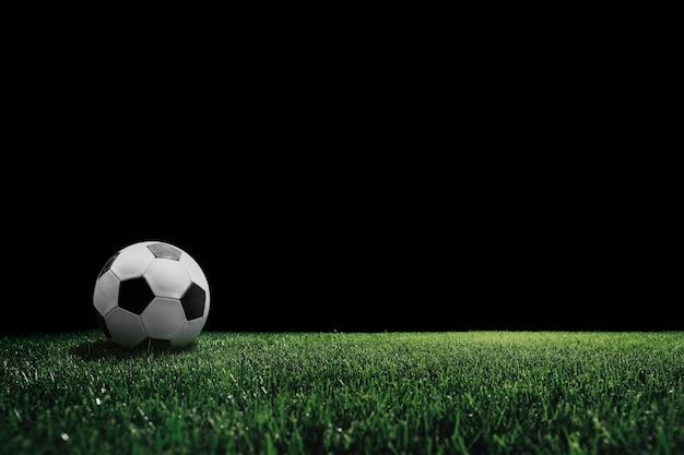 Terrain de football avec projecteur lumineux
