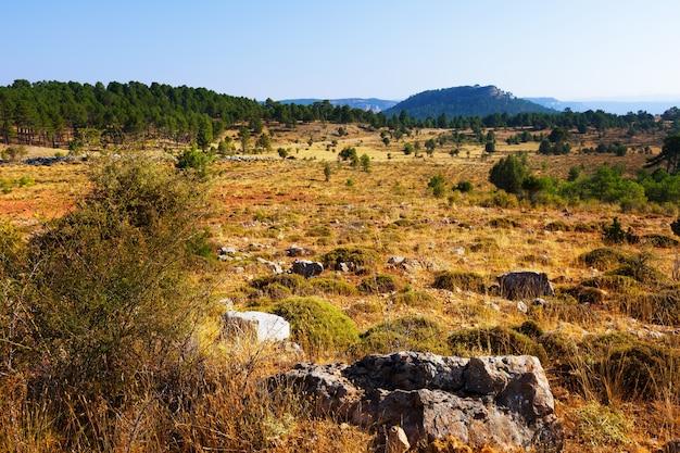 Terrain montagneux dans la province de cuenca