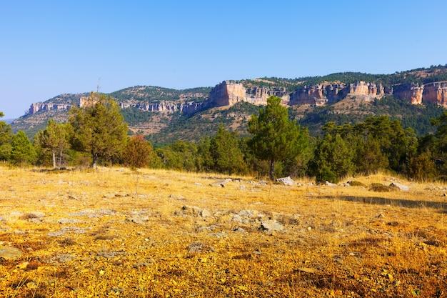 Terrain montagneux de la sierra de cuenca