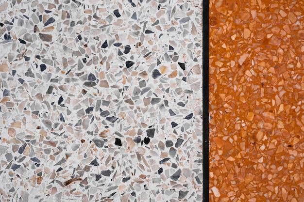 Terrazzo sol en pierre polie et motif de mur et la surface de couleur marbre et pierre de granit
