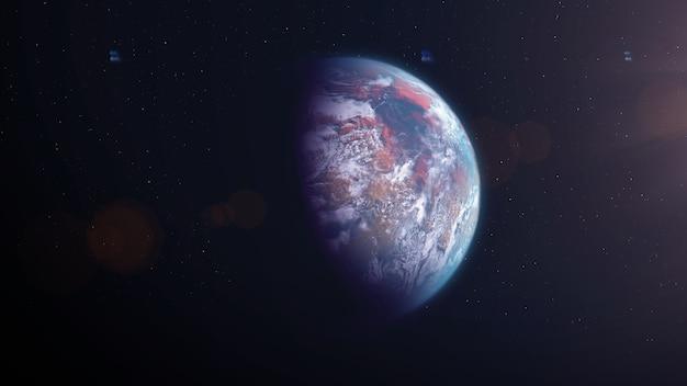 Terre comme une exoplanète