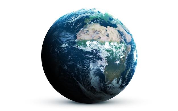 Terre dans l'espace, illustration 3d. .