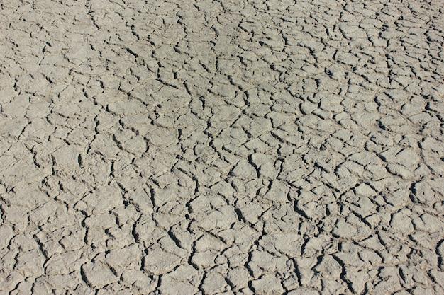 Terre grise séchée comme toile de fond
