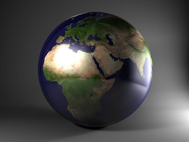 La terre isolée. rendu 3d
