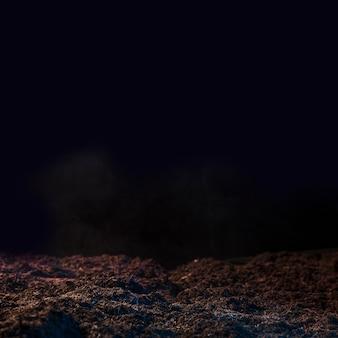 Terre noire morte