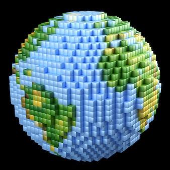 Terre pixélisée