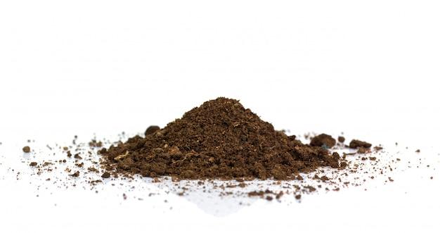 Terre sale. texture naturelle du sol