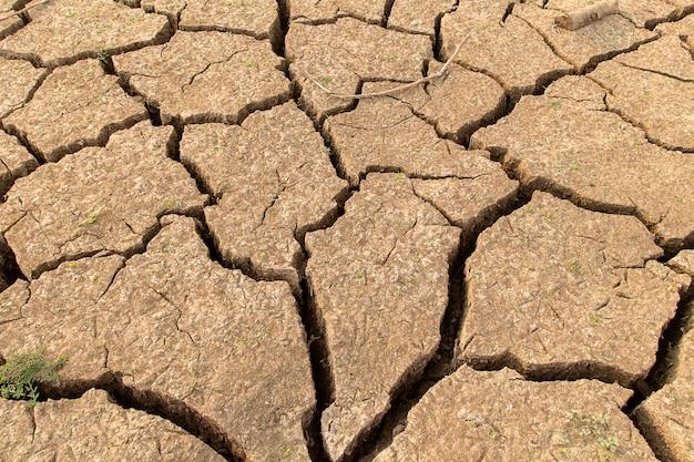 Terre sèche fissurée sans eau.présumé