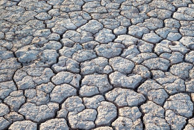 Terre sèche, texture fissurée