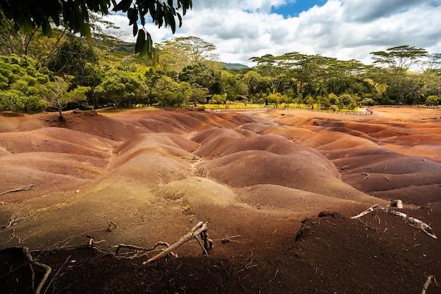 Terres aux sept couleurs sur l'île maurice, réserve naturelle, chamarelle