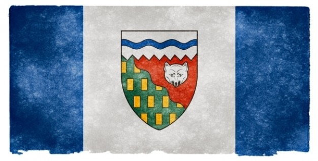 Territoires au nord-ouest grunge flag