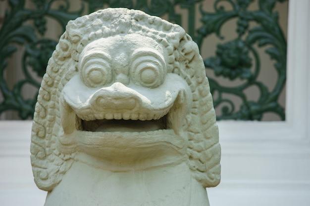Tête de lion du temple d'émeraude, thaïlande