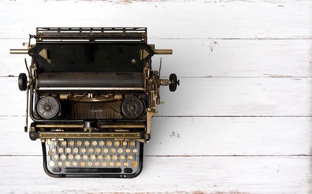 En-tête de machine à écrire vintage