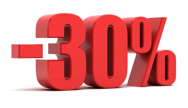 Texte 3d à rabais de 30 pour cent