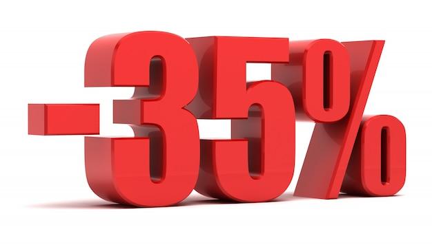 Texte 3d à réduction de 35 pour cent