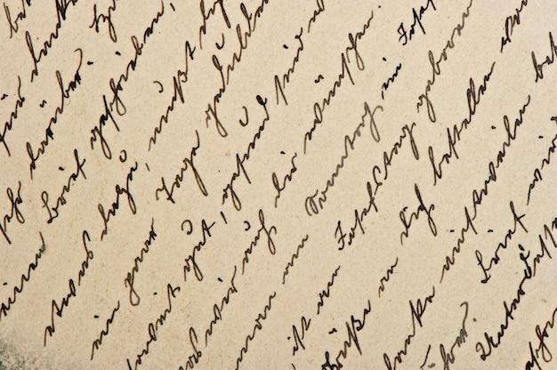 Texte anglais calligraphique manuscrit non défini. fond de papier numérique