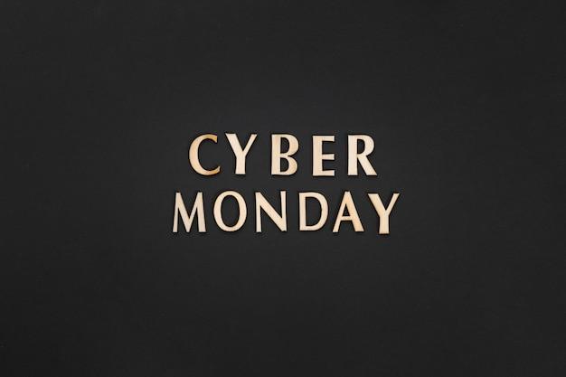 Texte de cyber lundi sur fond uni