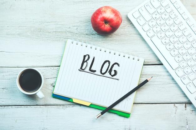 Texte du blog sur le bloc-notes