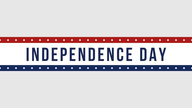 Texte en gros plan jour de l'indépendance sur fond de vacances, jour de la nation des états-unis. modèle de style d'illustration 3d de luxe et élégant