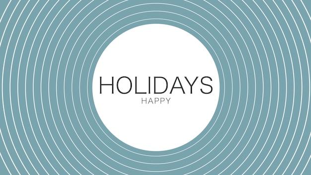 Texte joyeuses fêtes sur fond de mode et de minimalisme avec cercle géométrique. style d'illustration 3d élégant et luxueux pour les vacances et le modèle d'entreprise
