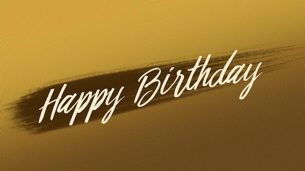 Texte joyeux anniversaire sur fond de mode et de brosse en or