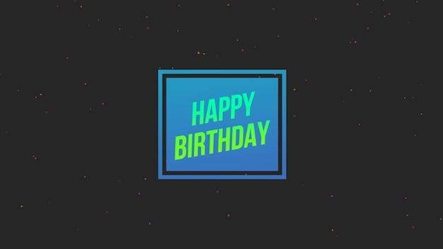 Texte joyeux anniversaire sur fond de mode et de minimalisme avec forme géométrique. style d'illustration 3d élégant et luxueux pour les vacances et le modèle d'entreprise