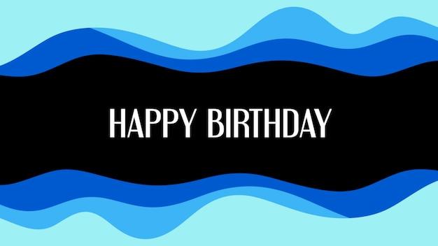 Texte joyeux anniversaire et formes géométriques abstraites, fond de memphis. style d'illustration 3d élégant et luxueux pour le modèle d'entreprise et d'entreprise
