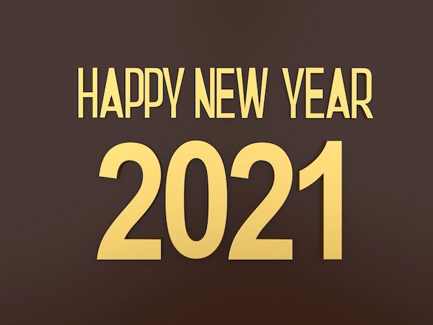 Texte d'or 2021 nouvel an sur fond noir