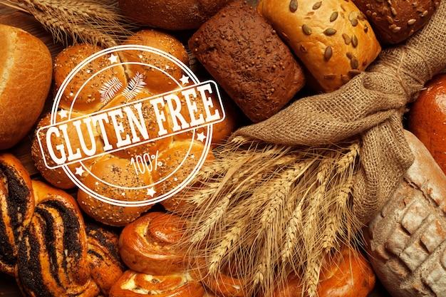 Texte sans gluten sur pain