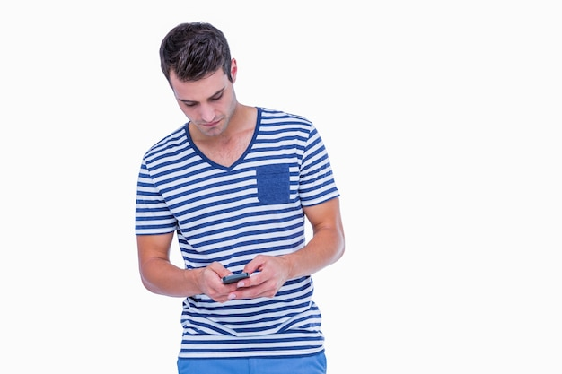 Textos hipster beau sur smartphone